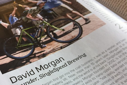 David Morgan in Beer Advocate article