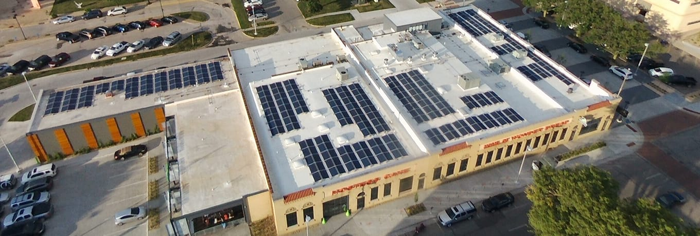 SingleSpeed Brewing Solar Panels on Roof in Waterloo Iowa